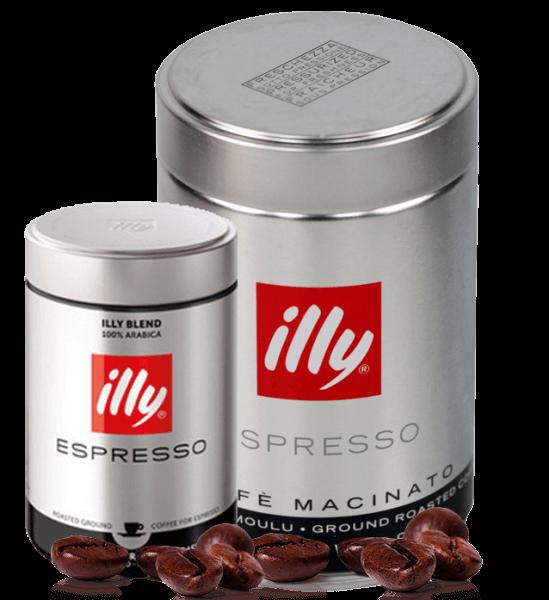Illy Röstung S schwarz Espresso Kaffee 250 Gramm gemahlen