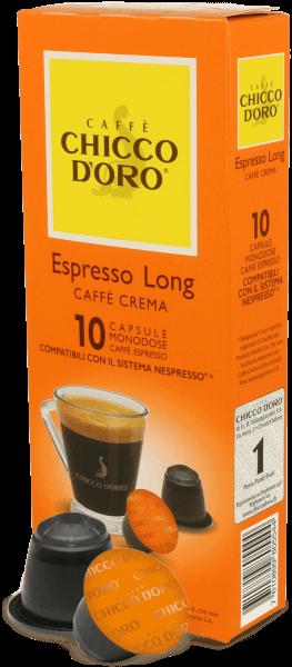 Chicco dOro Espresso Long - Caffe Crema - Nespresso® kompatibel - 10 Kapseln