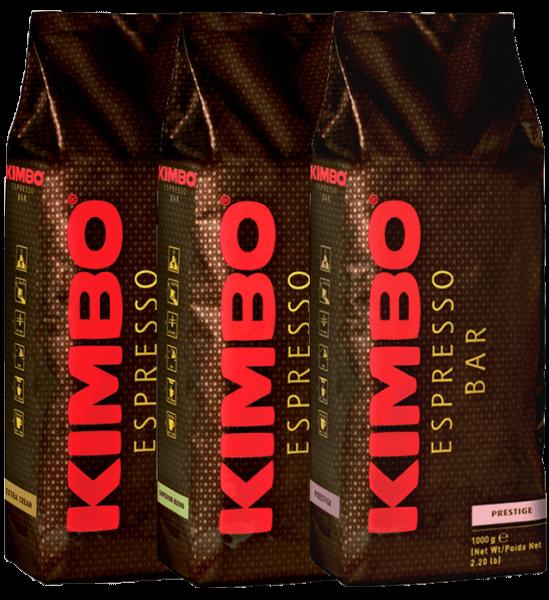 Kimbo Probierpaket 3 x 1kg Bohnen