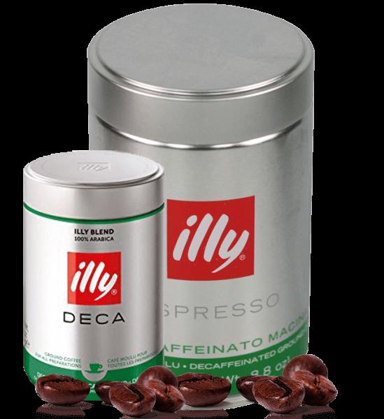 Illy koffeinfrei Espresso Kaffee 250 Gramm gemahlen