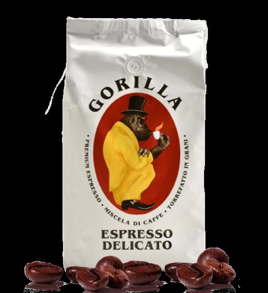 Gorilla Delicato Kaffee Espresso 1000 Gramm Bohnen