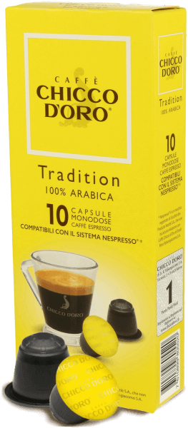 Chicco dOro Tradition 100% Arabica - Nespresso® kompatibel - 10 Kapseln
