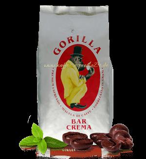 Gorilla Kaffee Bar Crema Espresso 1000 Gramm Bohnen