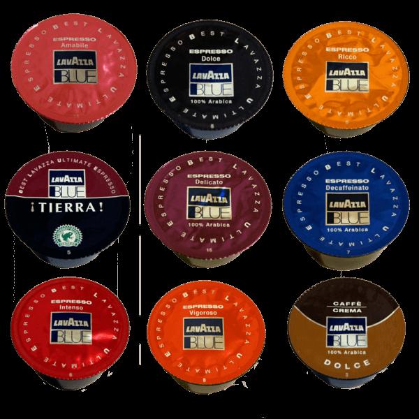 Lavazza BLUE Kapseln Probierpaket mit 10 Sorten