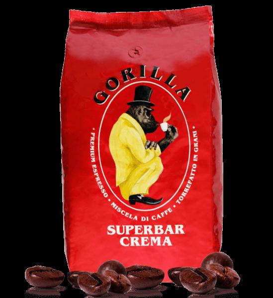 Gorilla Kaffee Super Bar Crema Espresso 1000 Gramm Bohnen