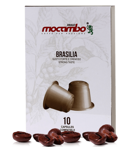 Mocambo Brasilia Kapseln Nespresso® System kompatibel - 10 Stück