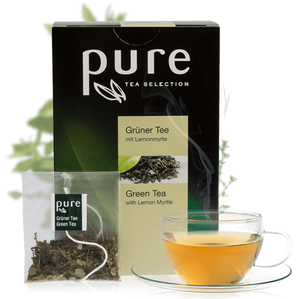 Tchibo Pure Tee Tea Selection Grüner Tee mit Lemonmyrte 25 Beutel