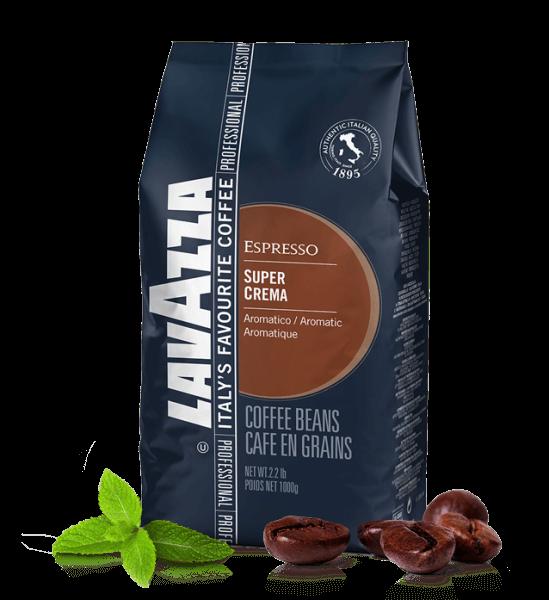 Lavazza Super Crema Espresso Kaffee 1000 Gramm Bohnen