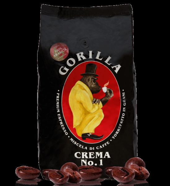 Gorilla Kaffee Crema Nr.1 Espresso 1000 Gramm Bohnen