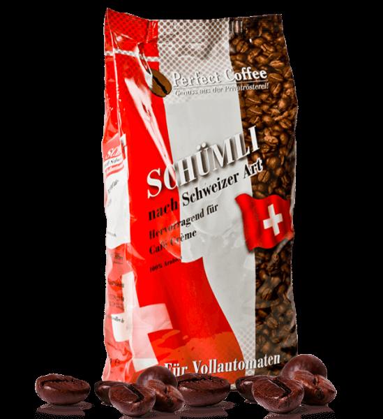 Schümli Kaffee - nach Schweizer Art - 100% Arabica 1 kg ganze Bohnen