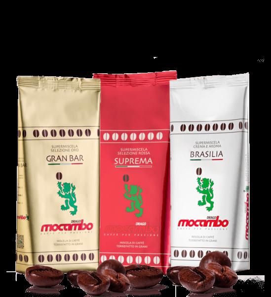 Mocambo Probierpaket mit 3 Sorten, 3 x 250g Bohnen